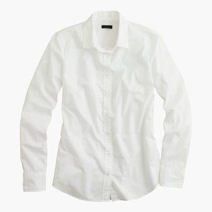 J.Crew Womens Boy Shirt In Classic White #44541